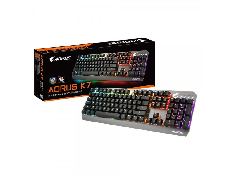 Клавиатура USB RUS BLACK AORUS K7 GIGABYTE