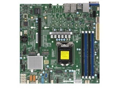 Серверная материнская плата C246 S1151 MATX BLK MBD-X11SCM-F-B SUPERMICRO