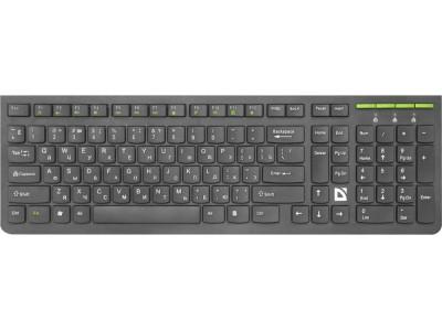 Беспроводная клавиатура ULTRAMATE SM-536 RU BLACK 45536 DEFENDER