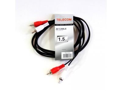 Кабель AUDIO 2RCA TO 2RCA 1.5M TAV7158-1.5M TELECOM
