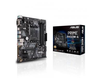 Материнская плата AMD B450 SAM4 MATX PRIME B450M-A ASUS