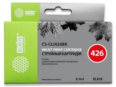 Картридж BLACK 8.4ML CS-CLI426BK CACTUS