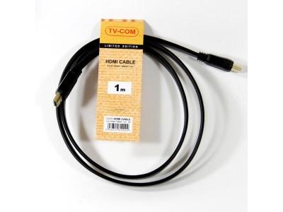 Кабель а/в TVCOM 1m м HDMI-HDMI 19M/M 1.4 CG200F-1M