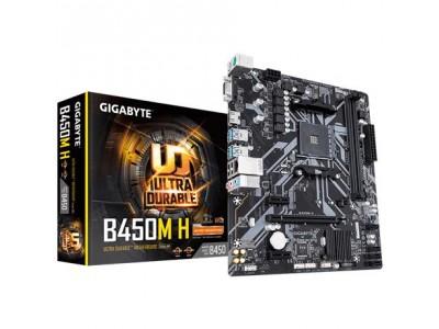 Материнская плата AMD B450 SAM4 MATX B450M H GIGABYTE