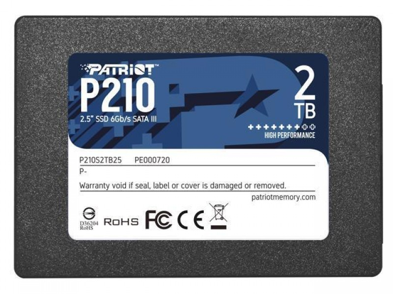 "SSD жесткий диск SATA2.5"" 2TB P210 P210S2TB25 PATRIOT"