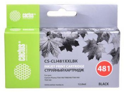 Картридж BLACK 12ML CS-CLI481XXLBK CACTUS