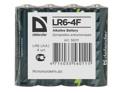 Батарея ALKALINE AA 1.5V LR6-4F 4PCS 56011 DEFENDER