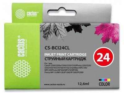 Картридж COLOR 12.6ML CS-BCI24CL CACTUS