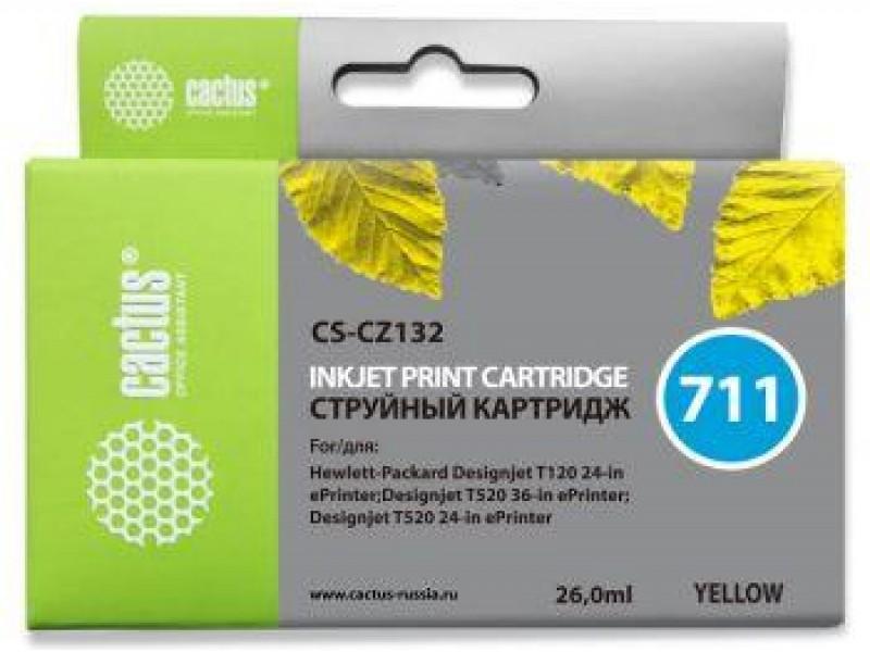 Картридж YELLOW NO.711 26ML CS-CZ132 CACTUS