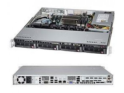 Серверная платформа 1U SATA BLACK SYS-5018D-MTF SUPERMICRO