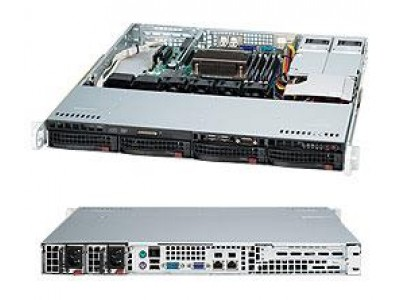 Корпус для сервера 1U 400W CSE-813MFTQC-R407CB SUPERMICRO