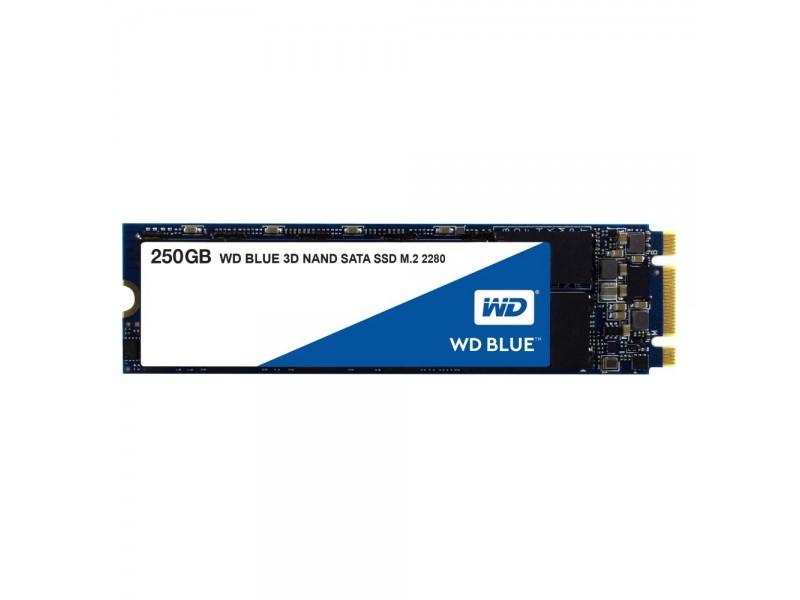 SSD жесткий диск M.2 2280 250GB TLC BLUE WDS250G2B0B WDC