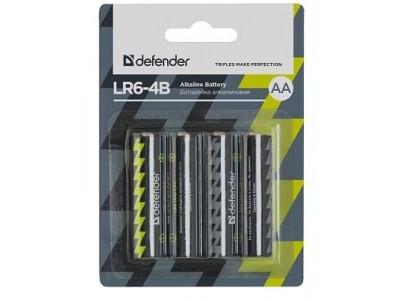 Батарея ALKALINE AA 1.5V LR6-4B 4PCS 56012 DEFENDER