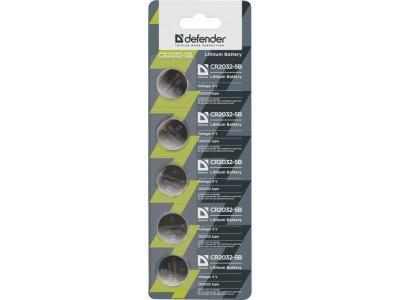 Батарейка литиевая CR2032 3V 5PCS 56201 DEFENDER