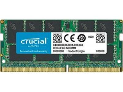 Модуль памяти CRUCIAL DDR4 16Гб ECC 2666 МГц Множитель частоты шины 19 1.2 В CT16G4TFD8266