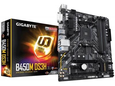 Материнская плата AMD B450 SAM4 MATX B450M DS3H GIGABYTE