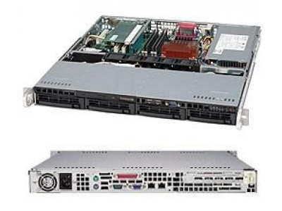 Корпус для сервера 1U 350W ATX CSE-813MTQ-350CB SUPERMICRO