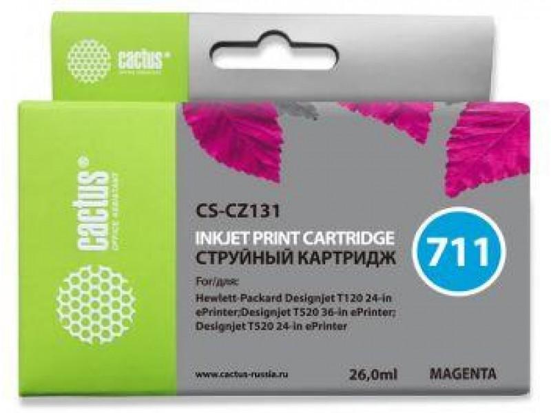 Картридж MAGENTA NO.711 26ML CS-CZ131 CACTUS