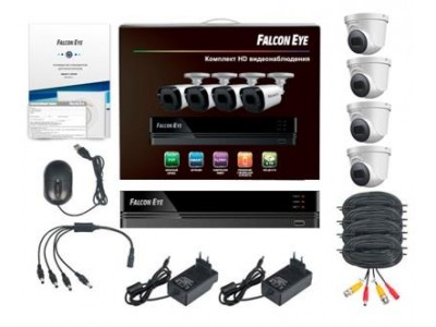 Комплект видеонаблюдения 4CH + 4CAM KIT FE-104MHD DOM SMART FALCON EYE