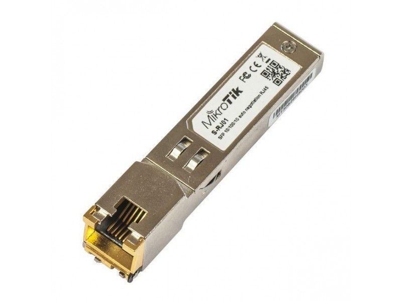 Модуль 1GBE RJ45 SFP S-RJ01 MIKROTIK