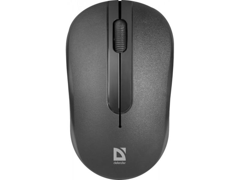 Мышка USB OPTICAL WRL MM-285 BLACK 52285 DEFENDER