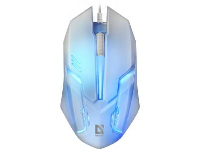 Мышка USB OPTICAL CYBER MB-560L WHITE 52561 DEFENDER