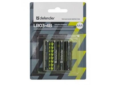 Батарея ALKALINE AAA 1.5V LR03-4B 4PCS 56002 DEFENDER