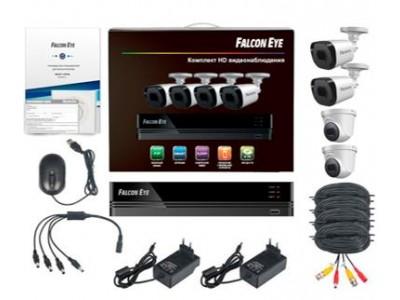 Комплект видеонаблюдения 4CH + 4CAM KIT FE-104MHD OFIS SMAR FALCON EYE