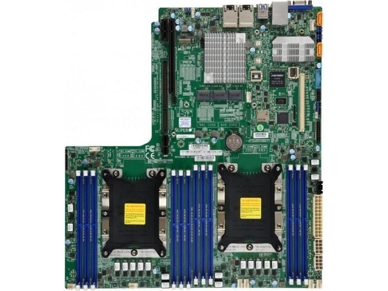 Серверная материнская плата C621 S3647 BLK MBD-X11DDW-L-B SUPERMICRO