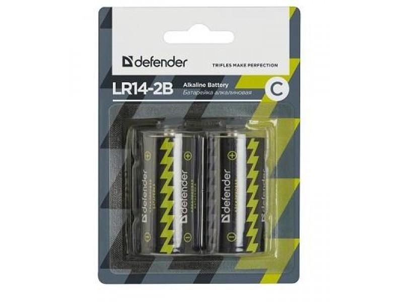 Батарея ALKALINE LR14-2B C 1.5V 2PCS 56032 DEFENDER