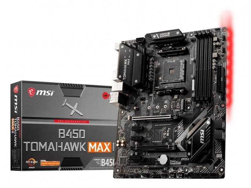 Материнская плата AMD B450 SAM4 ATX B450 TOMAHAWK MAX II MSI