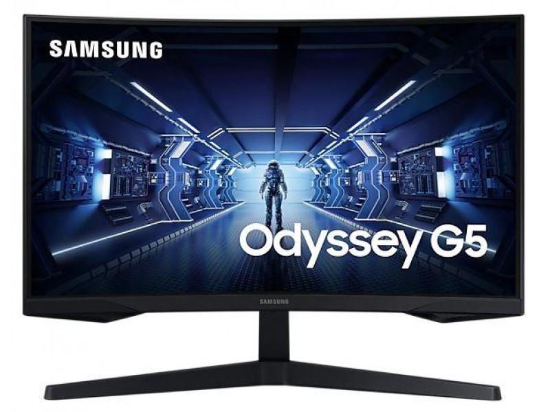 """ЖК монитор SAMSUNG C27G55TQWI 27"""" Gaming/Curved Panel VA 2560x1440 16:9 144HZ 1 мс Цвет черный LC27G55TQWIXCI"""