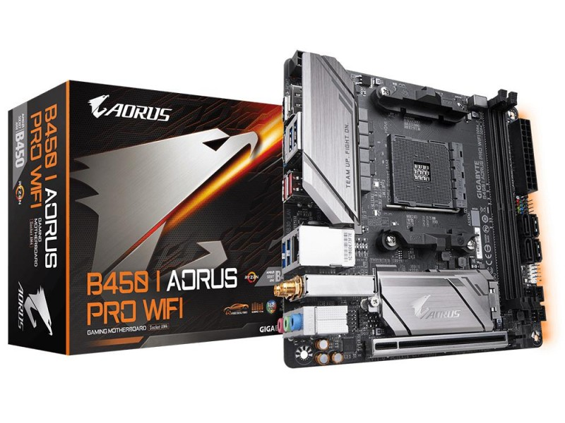 Материнская плата AMD B450 SAM4 MITX B450 I AORUS PRO WIFI GIGABYTE