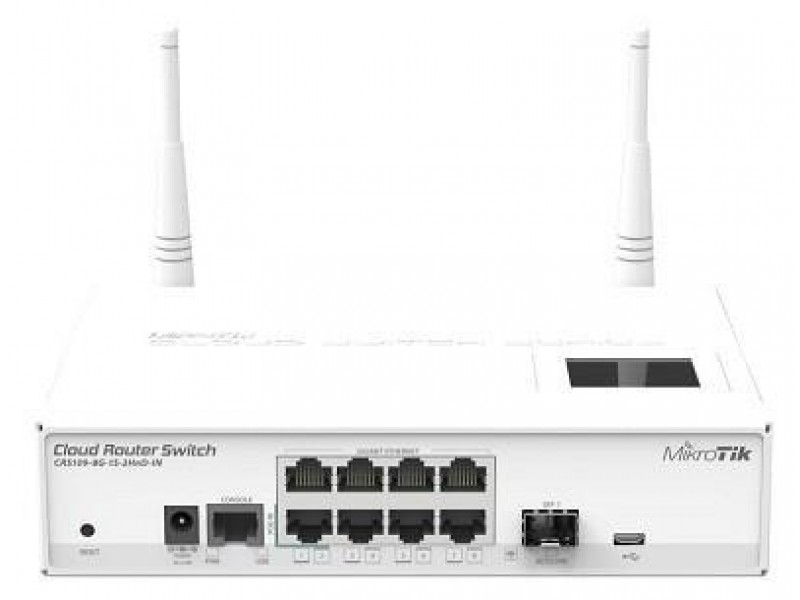 Wi-Fi маршрутизатор 8PORT 1000M CRS109-8G-1S-2HND-IN MIKROTIK