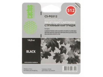 Картридж BLACK 14ML CS-PG512 CACTUS