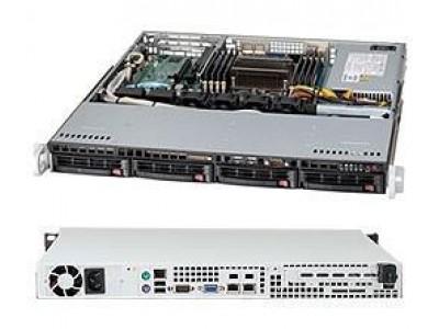 Корпус для сервера 1U 440/480W CSE-813MTQ-441CB SUPERMICRO