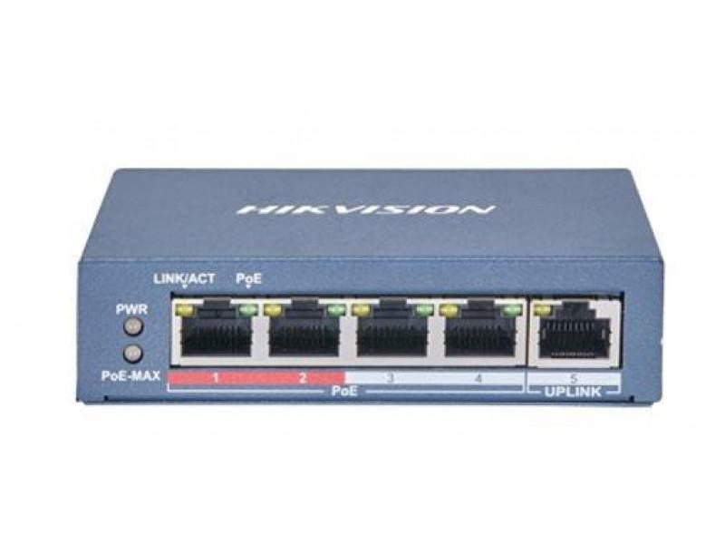 Коммутатор 4PORT 100M POE DS-3E0105P-E(B) HIKVISION