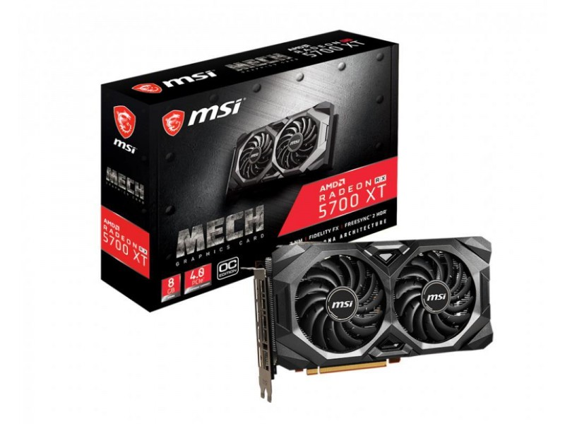 Видеокарта PCIE16 RX 5700 XT 8GB RX 5700 XT MECH OC MSI