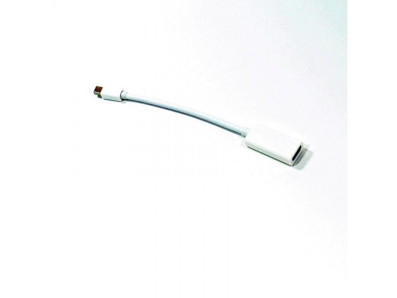 Кабель а/в VCOM 0.2m м Mini DisplayPort (M) to HDMI (F) VHD6055