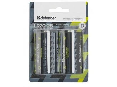 Батарея ALKALINE LR20-2B D 1.5V 2PCS 56022 DEFENDER