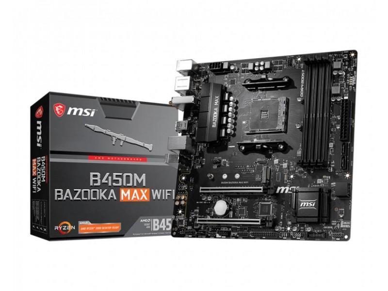 Материнская плата AMD B450 SAM4 MATX B450M BAZOOKA MAX WIFI MSI