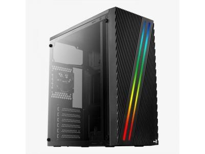 Корпус AEROCOOL Streak Supports GPU up to 335mm; Supports CPU coolers up to 151mm MidiTower без Б/П ATX MicroATX MiniITX Цвет черный 4718009158573