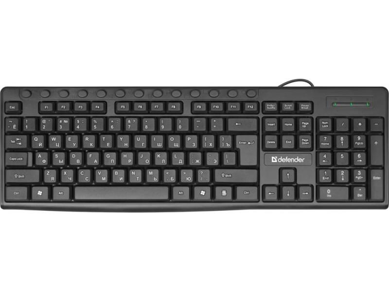 Клавиатура USB ACTION HB-719 RU BLACK 45719 DEFENDER