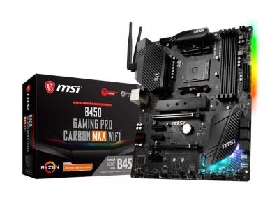 Материнская плата AMD B450 SAM4 ATX B450 GAM PRO CARB MAX WIFI MSI