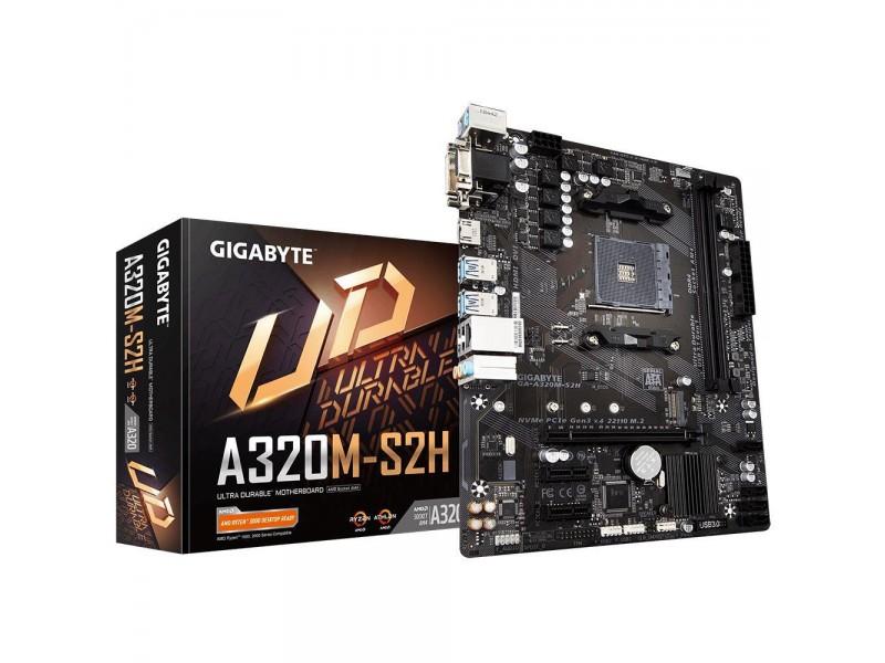 Материнская плата AMD A320 SAM4 MATX GA-A320M-S2H 3.1 GIGABYTE