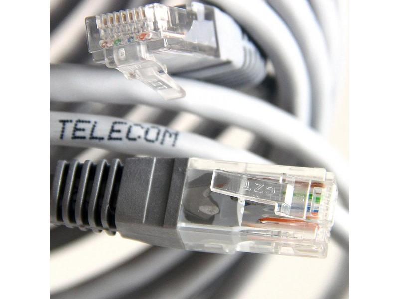 Кабель PATCH UTP CAT5E 3M GREY NA102-3M TELECOM
