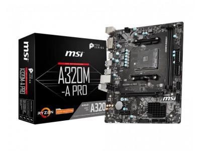 Материнская плата AMD A320 SAM4 MATX A320M-A PRO MSI