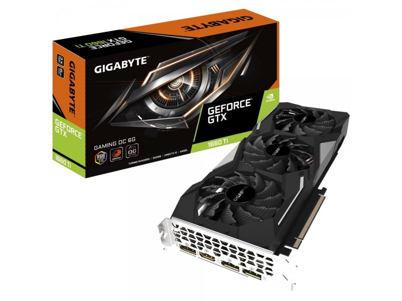 Видеокарта PCIE16 GTX1660TI 6GB GDDR6 GV-N166TGAMING OC-6GD GIGABYTE