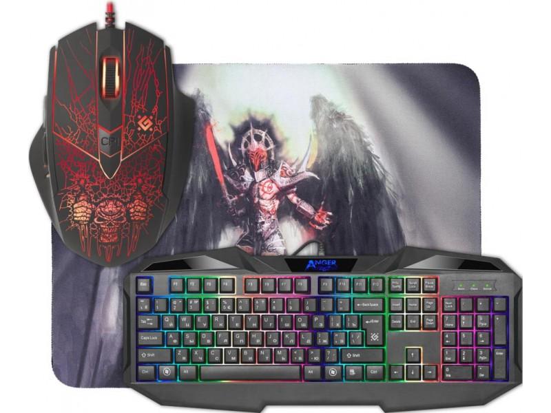 Клавиатура + мышка +PAD ANGER MKP-019 RU 52019 DEFENDER