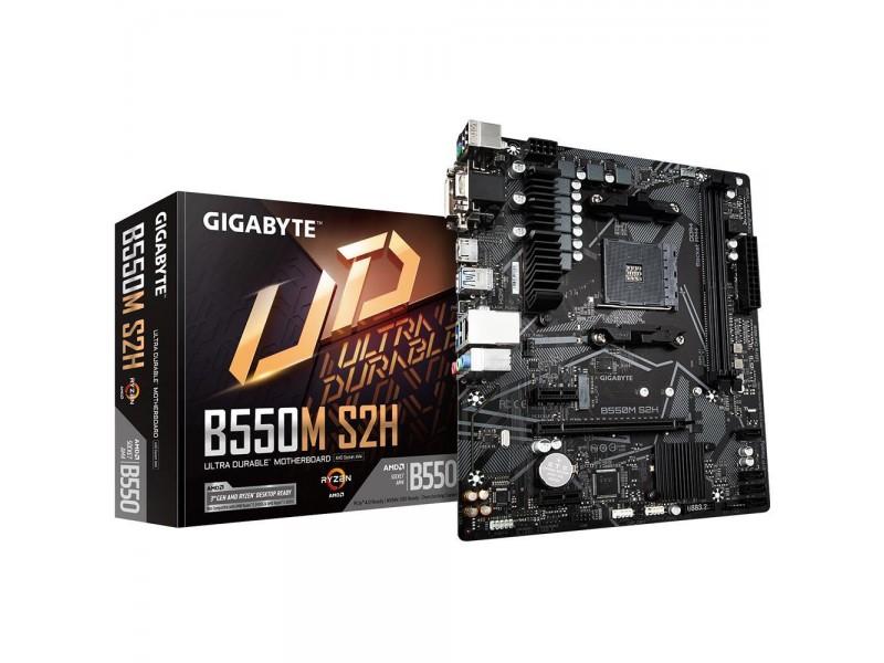 Материнская плата AMD B550 SAM4 MATX B550M S2H GIGABYTE